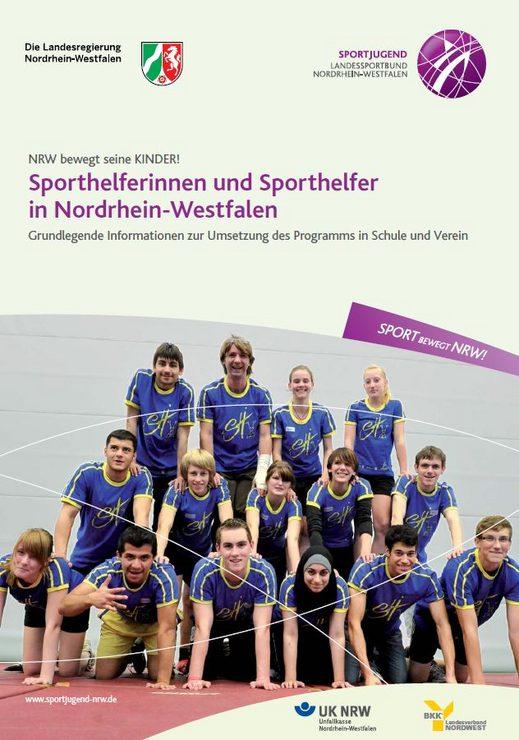 Titelblatt Broschüre Sporthelferinnen und Sporthelfer in Nordrhein-Westfalen