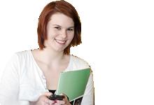 Jugendordnung der Sportjugend NRW: junge Frau mit Tagungsunterlagen
