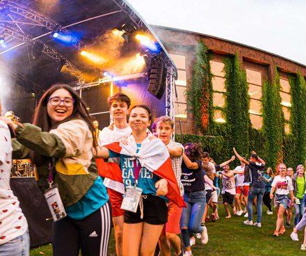 Jugendliche haben Spaß bei den Ruhrgames