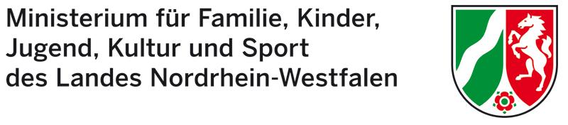 Logo Ministerium für Familie, Kinder, Jugend, Kultur und Sport NRW